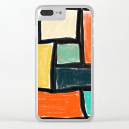 Colour Fields Clear iPhone Case