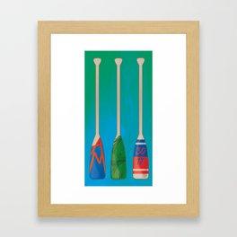 Paddles of memories Framed Art Print