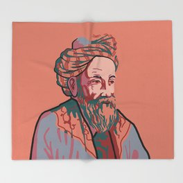 Omar Khayyam Throw Blanket