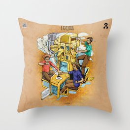 The Fantastic Craft Coffee Contraption Suite - The Fantastic Craft Coffee Contraption Throw Pillow