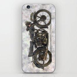 Vintage Motorcycle No1 iPhone Skin