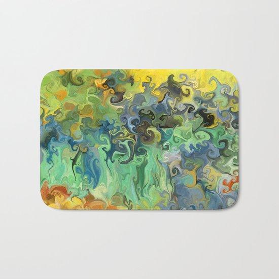 Pauls Irises, After Van Gogh Bath Mat