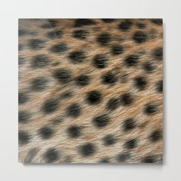 """""""Pop Safari 02 Leopard"""" Metal Print"""