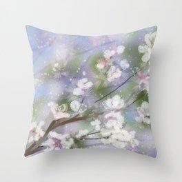 Sring Snow Throw Pillow
