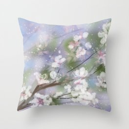 Sring Snow Throw Pillow