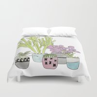cactus Duvet Covers featuring Cactus by Olivia James