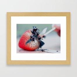 Flaming Red.  Framed Art Print