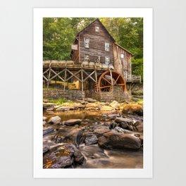 Below the Old Mill Art Print