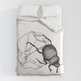 Dung beetle Duvet Cover