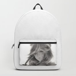 Young woman black and white Backpack