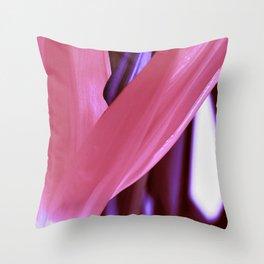 Strelitzia Reginae (Magenta version) Throw Pillow