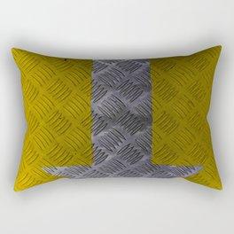 Industrial Arrow Tread Plate - Down Rectangular Pillow