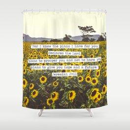 Jeremiah Sunflowers Shower Curtain