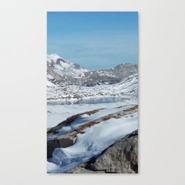 Daubensee above Leukerbad, Valais, Swiss Alps I Canvas Print
