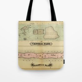 Map of Central Park 1879 Tote Bag