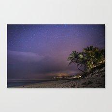 HAWAII - NorthShore night Sky - Stars and beach Canvas Print