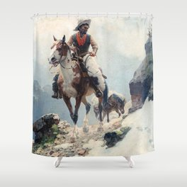 "William Leigh Western Art ""The Bear Tracker"" Shower Curtain"