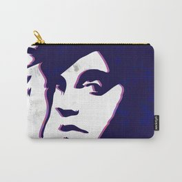 street art style girl in blue and pink on marble pattern Carry-All Pouch