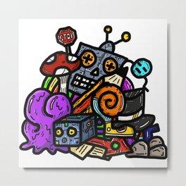 Doodle Art No.1 - Trash Site Metal Print