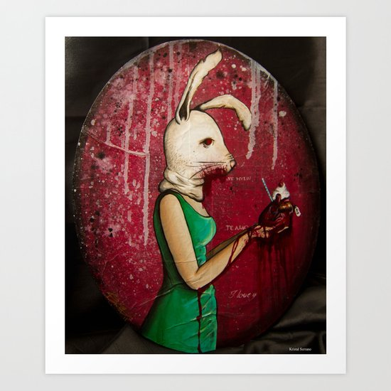 What's Yours Is MINE (Bunny) Art Print