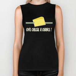 Give cheese a chance Biker Tank
