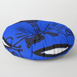 Society6 Online Premium Art - K. A. Haring - Untitled 1985 - Black Superpowers 1K Floor Pillow