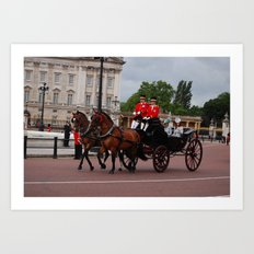 The Guards and Buckingham Palace 2 Art Print