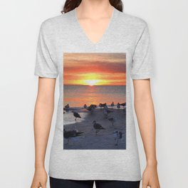 Shore Birds Unisex V-Neck