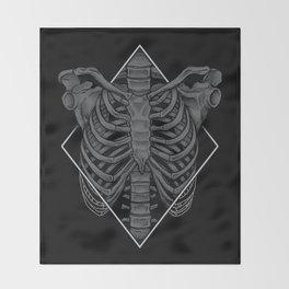 Skeleton Throw Blanket