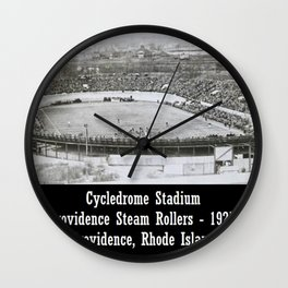 Providence Steam Rollers Cycledrome Football Stadium, Providence, Rhode Island Wall Clock