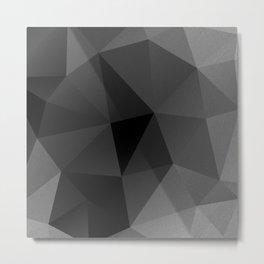 Black and white metric polygon pattern Metal Print