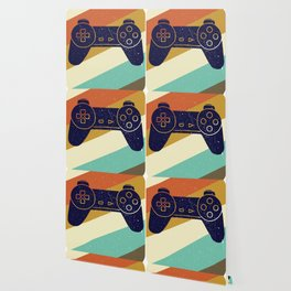 Retro Vintage Design With Controller Video Game Lover's Gift Wallpaper