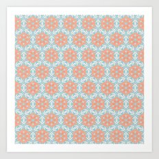 Retro Kaleidoscopic Pattern Art Print