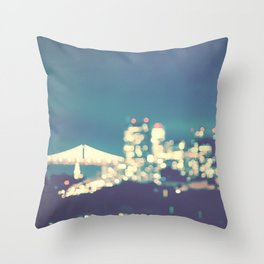 San Francisco Twinkle Throw Pillow