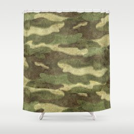 Dirty Camo Shower Curtain