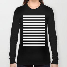 Horizontal Stripes (Black/White) Long Sleeve T-shirt