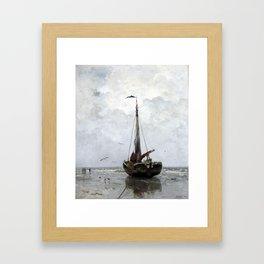 Jacob Maris Fishing boat Framed Art Print