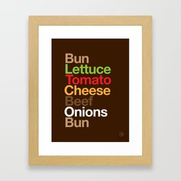 Burgervetica Framed Art Print