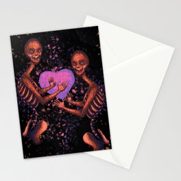 The Little Monster on Fire Stationery Cards