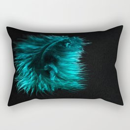 Feather in green-turquoise Rectangular Pillow
