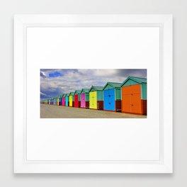 Hove Beach Huts Framed Art Print