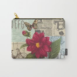 Ride with a Butterly and a Flower Carry-All Pouch