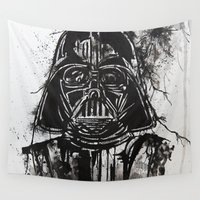 vader Wall Tapestries featuring Vader by Ren Davis