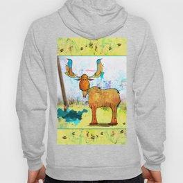 Blue Moose on the Loose ~Ginkelmier Hoody