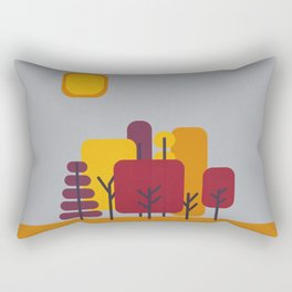 Sun over Autumn Forest Rectangular Pillow