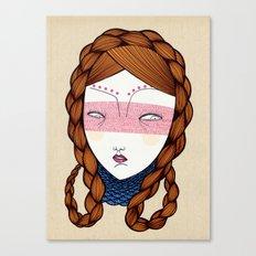 The red hair Canvas Print