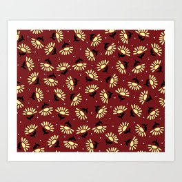 Ethnic flowers Art Print