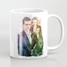 12th Doctor/Doctor Who/Peter Capaldi inspired Mixed Media Watercolor Portrait Coffee Mug