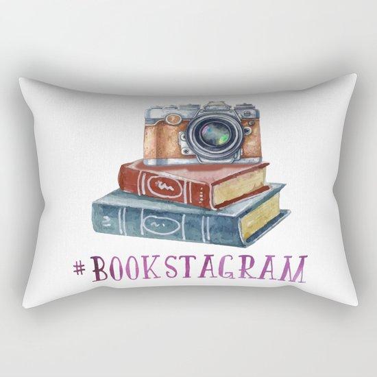 Watercolor Bookstagram Rectangular Pillow