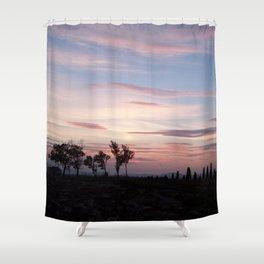 Italian sunset Shower Curtain